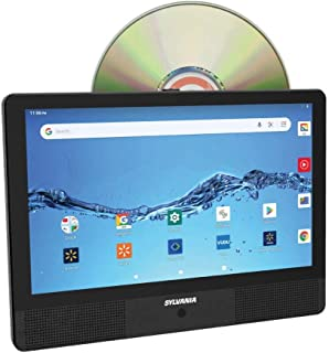 "Sylvania 10.1"" Quad Core Tablet/Portable DVD Player Combo, 1GB/16GB, Android, SLTDVD1024 (Renewed)"