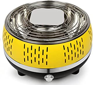 Portable Charcoal Grill Outdoor BBQ Grill with Built-in Adjustable Fan Non-Stick Cook Plate Smokeless Design for 3-7 Peopl...