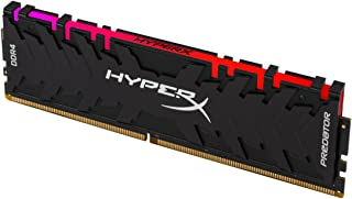 Kingston, Hx429C15Pb3A/8, Memoria RAM Hyperx Predator RGB 8GB (1X8GB) DDR4 U-DIMM 2933 MHz PC4-23400 CL15, Non-ECC