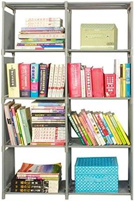 HIZLJJ 8 Grids Simple Non-Woven Bookshelves Cloth Book Shelf Creative Printing Home Decoration Children's Bookcase Small Library (Color : C)