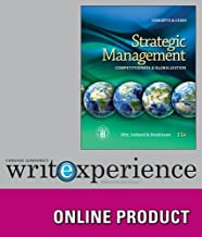 Cengage Learning Write Experience 2.0 (Powered by MyAccess) for Hitt/Ireland/Hoskisson's Strategic Management: Concepts and Cases: Competitiveness and Globalization, 11th Edition