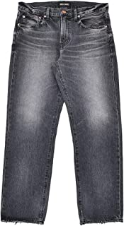 [レッドカード] ストレートデニム メンズ Rookie ルーキー コットン100% ジーンズ ブラックユーズド black used