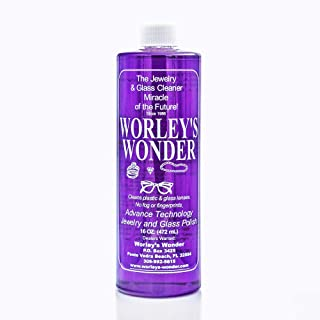 Worley's Wonder Jewelry & Glass Cleaner (16 Ounce Refill Bottle)