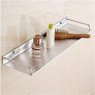 Étagère d'angle Douche 1 Niveau Salle de bain Etagère de douche montage mural Panier de rangement Rectangle Espace Alumini...