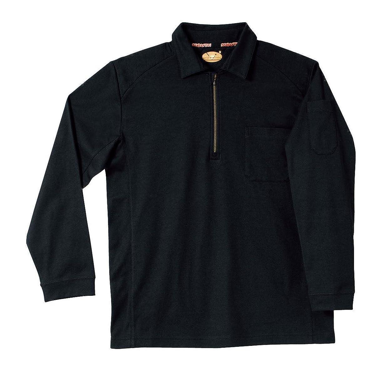 ピケ知人キモいSM702 裏綿刺し子入りジップアップ長袖ポロシャツ【SMT】【D】