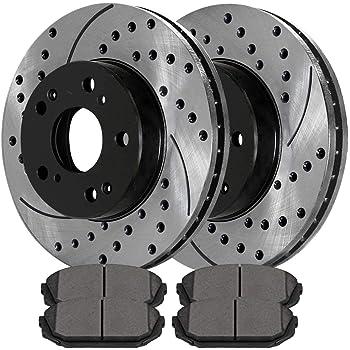 Max Brakes Front /& Rear Premium XD Rotors and Metallic Pads Brake Kit TA040223-3