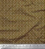 Soimoi Gold Baumwoll-Voile Stoff Fischgräte klein Stoff