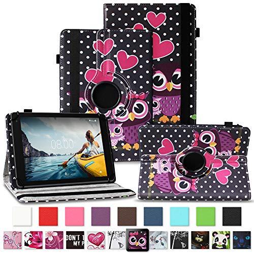 NAUC Tablet Hülle kompatibel für Medion Lifetab E10430 E10604 E10412 E10511 E10513 E10501 Tasche Schutztasche Cover Schutz Hülle 360° Drehbar Etui hochwertiges Kunst-Leder, Farben:Motiv 7