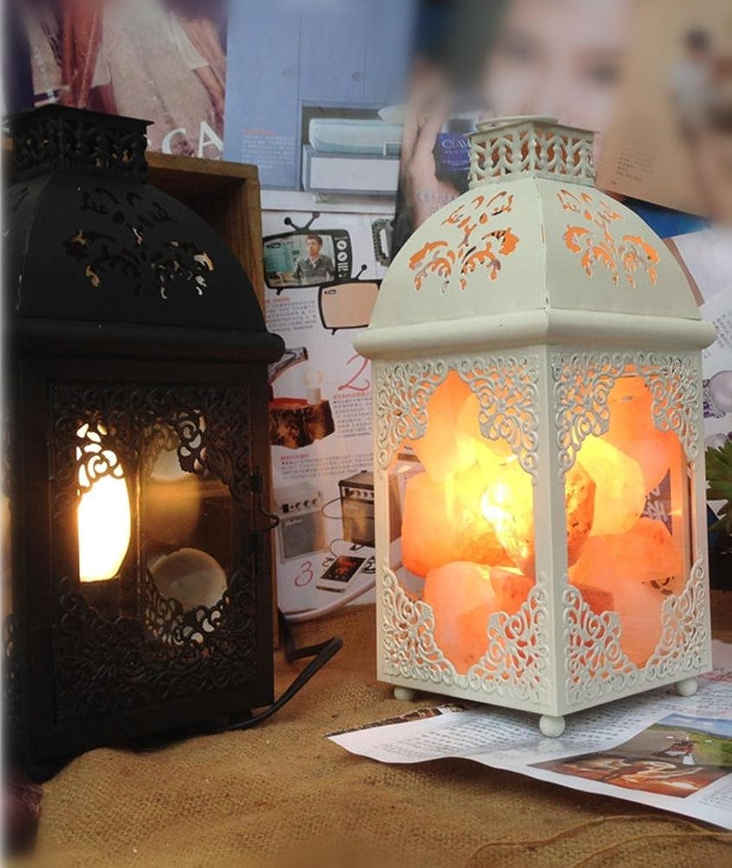OOFWY E14 Europäische Europäische Europäische Art-Eisenkristall-Salz-Lampen-Wohnzimmer-Lernen-Schlafzimmer-Nachttisch-kreative Lampe, b B074CRZTKT     | Züchtungen Eingeführt Werden Eine Nach Der Anderen  d16266