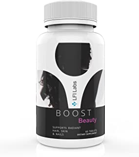 Boost Beauty Hair, Skin & Nails — Dermatologist Recommended — 28 Powerful & Effective Clinically Studied Ingredients for Beauty Enhancement; Maximum Results