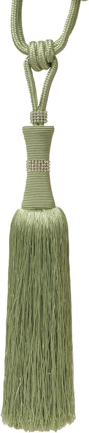 Riva Home - Abrazadera para Cortina Modelo Da Vinci (Talla Única) (Verde)