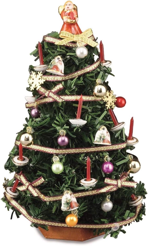 Melody Jane Puppenhuser Reutter Weihnachtsbaum mit Dekoration 1 12