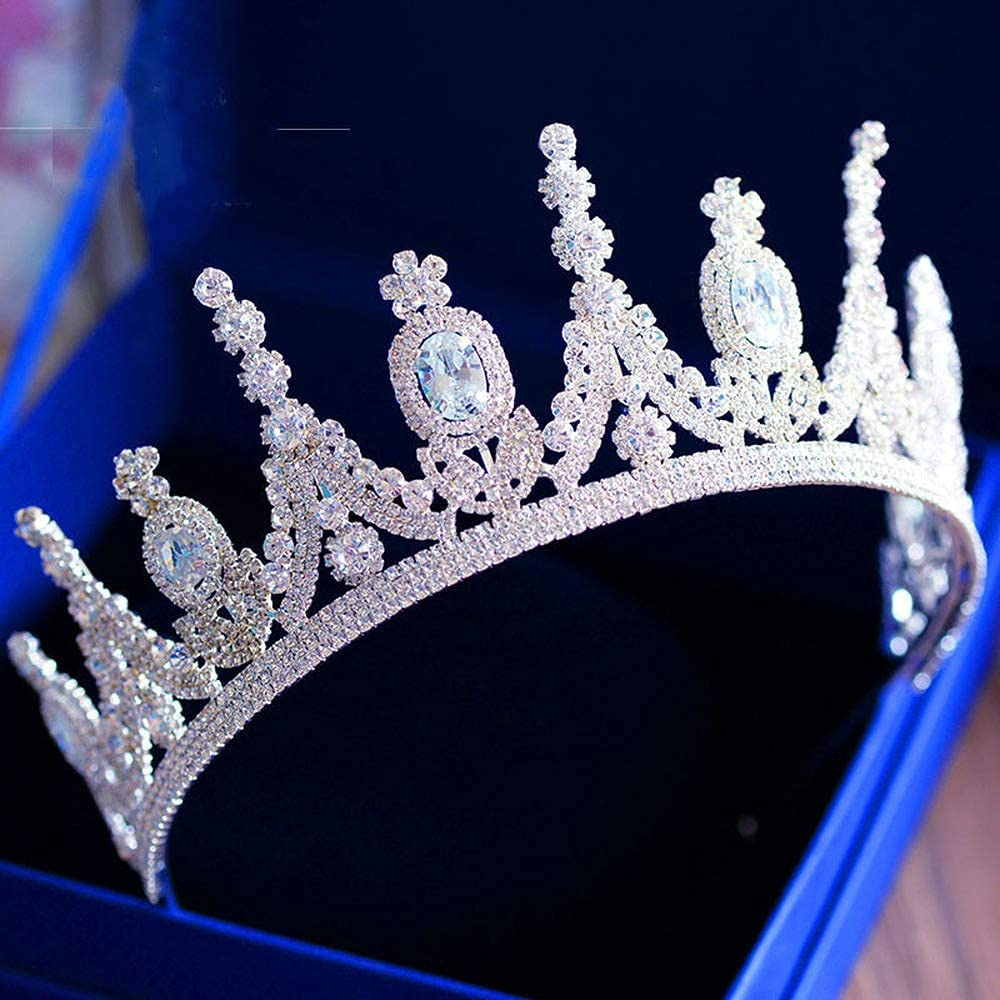 FMOGG Limited price sale Bridal Tiaras Max 61% OFF Crown Crowns Pageant Rhinestone Tiara