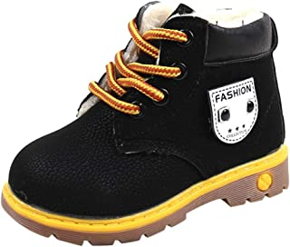 ONCEFIRST Kids Ankle Boots Lace up Shoes Casual Sneaker
