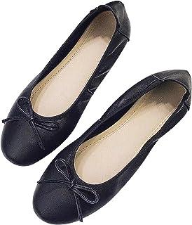 Noir Rose Cheeks Ballerines Pliables l Femmes Danseur Portable Rouler Sac de Chaussures