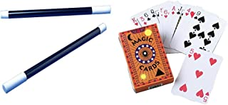 Magic Trick Playing Cards Wand Toy Party Favor Supplies 24 Piece Set Bundle for 12