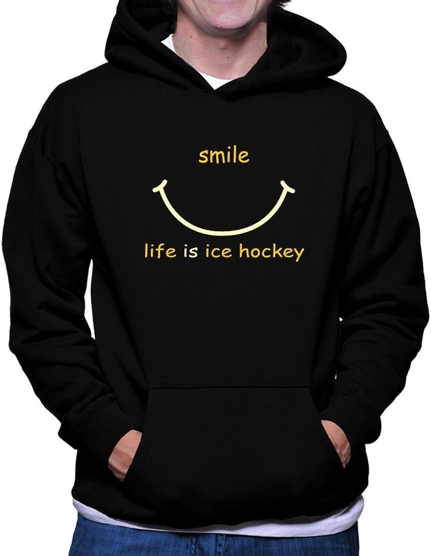 Teeburon SMILE LIFE IS Ice Hockey Hoodie