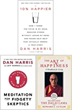 10% Happier, Meditation For Fidgety Skeptics, The Art Of Happiness 3 Books Collection Set