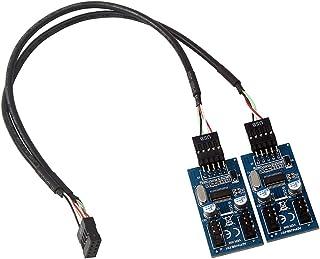 F Fityle アクセサリー マザーボード USB 9ピンヘッダースプリッタ 1-4延長ケーブルポート マルチプライヤ