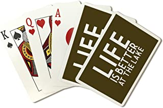 Life Is Better At The Lake - Simply Said (Playing Card Deck - 52 Card Poker Size with Jokers)