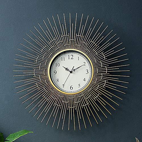 Reloj de pared – metal/personalidad/hogar/reloj, reloj de pared moderno para sala de estar o dormitorio, reloj de pared creativo (63,5 x 63,5 cm)