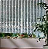 heimtexland Vorhang, Fertiggardine reinweiß mit klein gebogten Abschluss, aus hochwertigem Jacquardstore in Florentiner Optik, Größe 245 cm x 600 cm