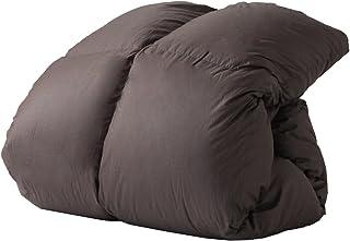 タンスのゲン 羽毛布団 シングルロング 【増量1.2kg】 洗える 日本製 かさ高165mm(400dp)以上 ロイヤルゴールドラベル 軽量TTC生地 無地 ブラウン 10419149 BR