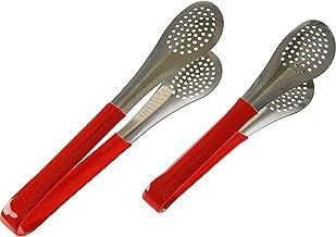 مشابك مقلاة المطبخ المشقوقة HOME-X ، أواني تقديم للسلطة ، أدوات طبخ معدنية