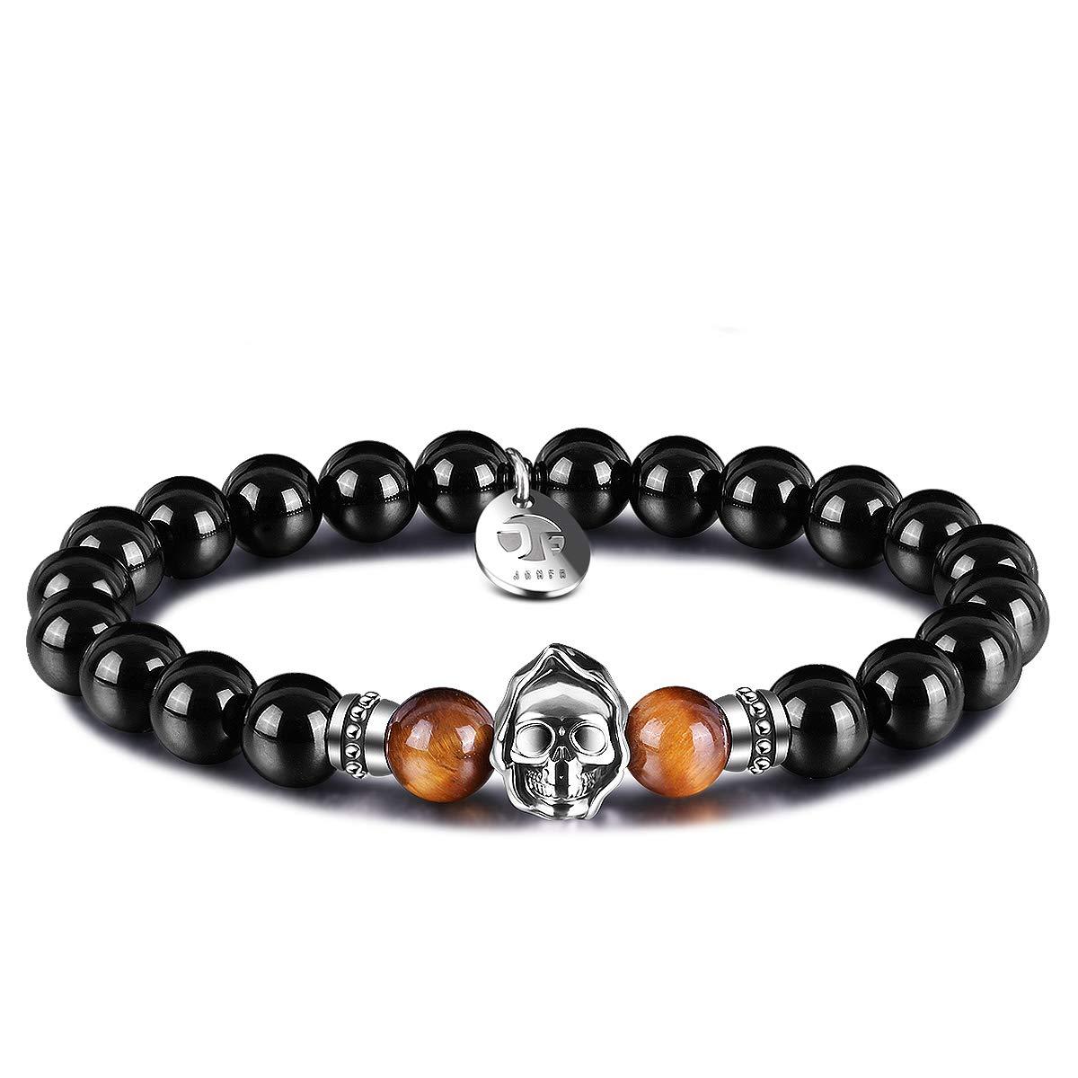 Relax Breathe Natural Agate Bracelet Beaded Meditation Spiritual Stretch Mantra Reiki Healing Energy Boho Charm Chakra Wrap Yoga Jewelry /& Gemstone Gifts Bamboo Leaf Agate