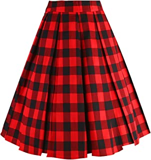 Best red buffalo check skirt Reviews