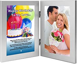 Birthday Gift for Wife, Husband, Girlfriend, Boyfriend- Love Poem Card in Frame