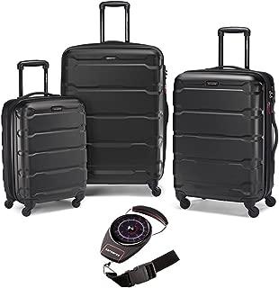 Samsonite 68311-1041 Omni Hardside Nested Spinner Set - Black with Luggage Scale