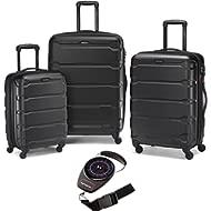 68311-1041 Omni Hardside Nested Spinner Set - Black with Luggage Scale