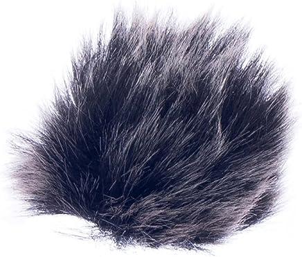 Black Fur Microphone Windscreen for Lapel Lavalier Mic