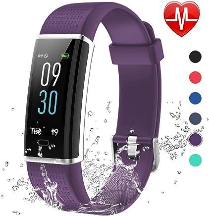 Lintelek Montre Cardiofréquencemètre, Tracker dActivité Écran Coloré avec Moniteur de Sommeil, Réveil