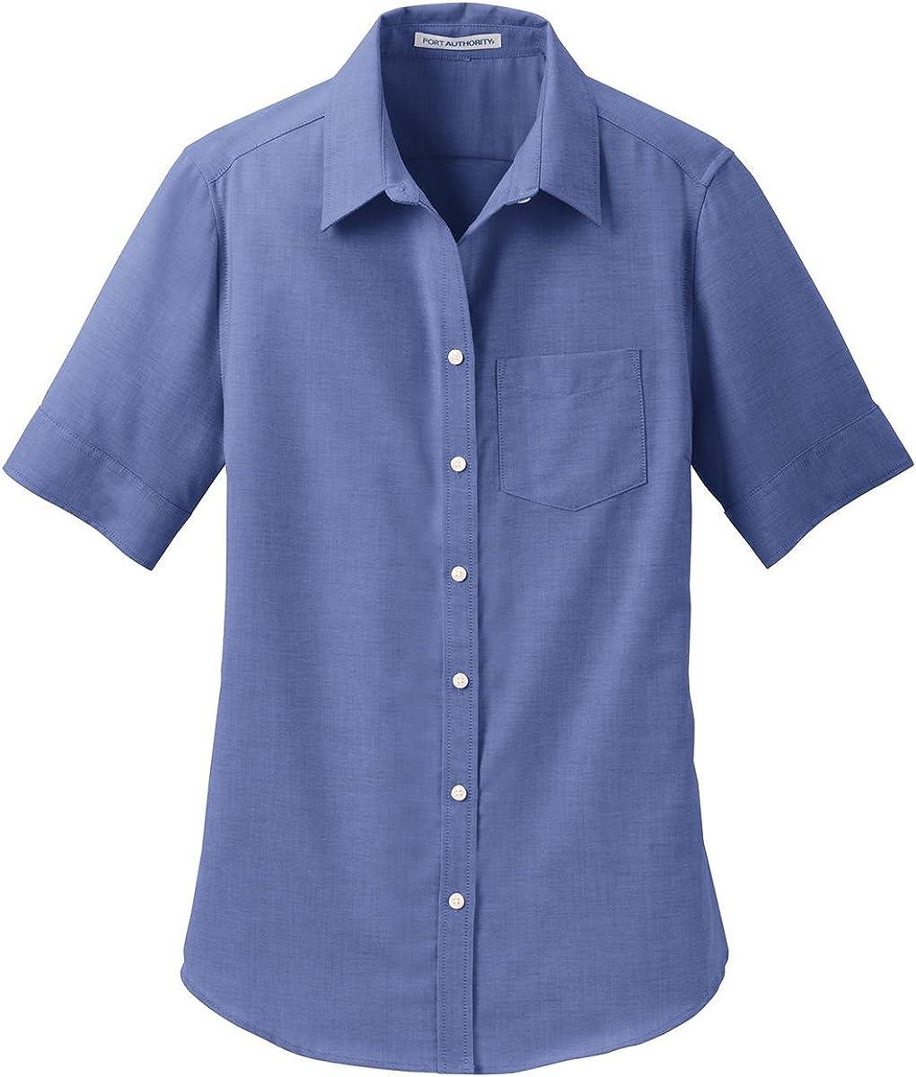 Port Authority Ladies Short Sleeve SuperPro Oxford Shirt