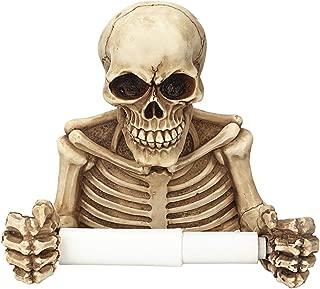 LiangGui Skeleton Skull Decorative Toilet Paper Holder Decor Halloween Bathroom