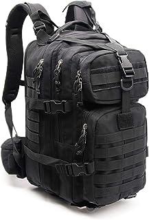 XIAO HUI Mochila táctica militar de 40 l, para conservar el calor, mochila de supervivencia al aire libre, para viajes de aventura al aire libre, mochila táctica negra