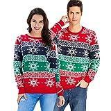 Goodstoworld Jerseys Navideño Mujer Hombre Familia para Parejas Novedad Feo Motivos Disfraz Navidad Ugly Christmas Sweater Jumper