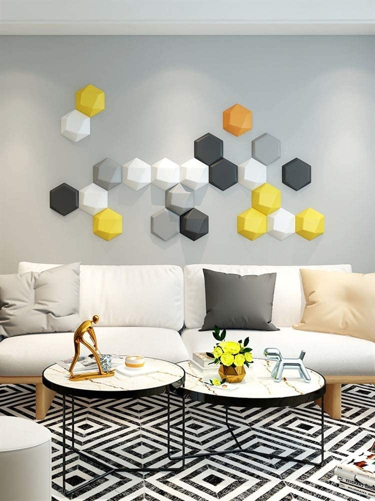 Liveinu 3d Wall Panels Pu Leather Wall Sticker Hexagon Waterproof Self Adhesive Foam Tile Wallpaper 3d Wall Sticker Decor For Decoration 5 Inch Violet Thick 1 Inch Amazon Com