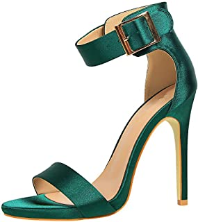b90a6916 Sandalias Mujer, Correa de Tobillo Tacón Alto Sandalia Moda Tacones Boda  Fiesta Zapatos