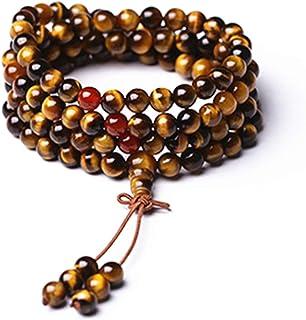 yigedan 8mm 108 Natural Gemstone Birthstone Crystal Healing Chakra Necklace Beads Prayer Mala Beads for Women Men