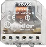 Finder 260882300000PAS - Interruptor de control remoto caja de persiana 2 NA 230 VCA 10 A 4 secuencias