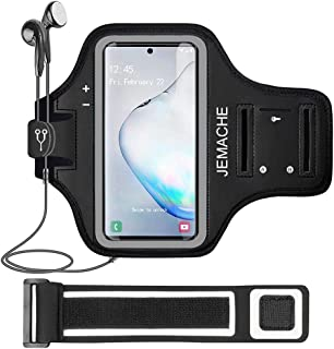 Galaxy Note 8/9/10+ Armband, JEMACHE Gym Run Workout Water Resistant Arm Band Case for Samsung Galaxy Note 8/9/10 Plus, Ga...