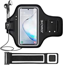 Galaxy Note 10+/9/8 Armband, JEMACHE Gym Run Workout Exercise Phone Arm Band Holder for Samsung Galaxy Note 8/9/10 Plus Fits Otterbox Defender, Lifeproof Case (Black)