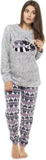 comprar comparacion Pijama de Pijamas cómodos Pijamas Snuggle Pijamas cálidos Pijama Twosie Set | Desgaste salón Suave para Las Mujeres para L...