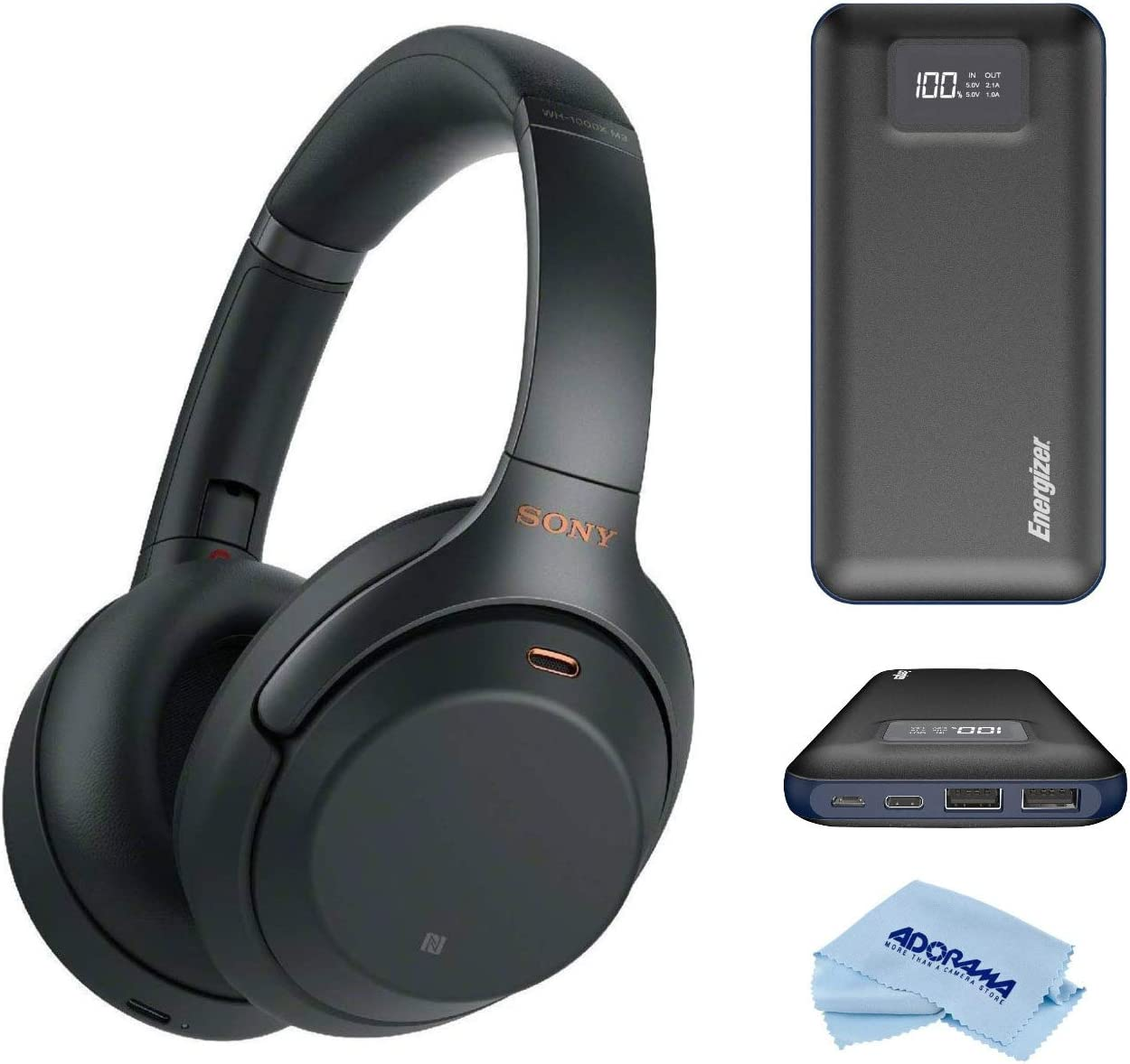 Sony WH-1000XM3 Wireless Industry-Leading Noise-Cancelling Over-Ear Headphones with Google Assistant