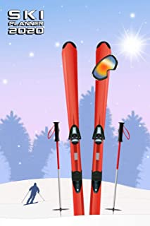 SKI PLANNER 2020 MONTHLY & WEEKLY NOTEBOOK ORGANIZER: 6x9 inch (similar A5) calendar from DEC 2019 to JAN 2021 with monthl...