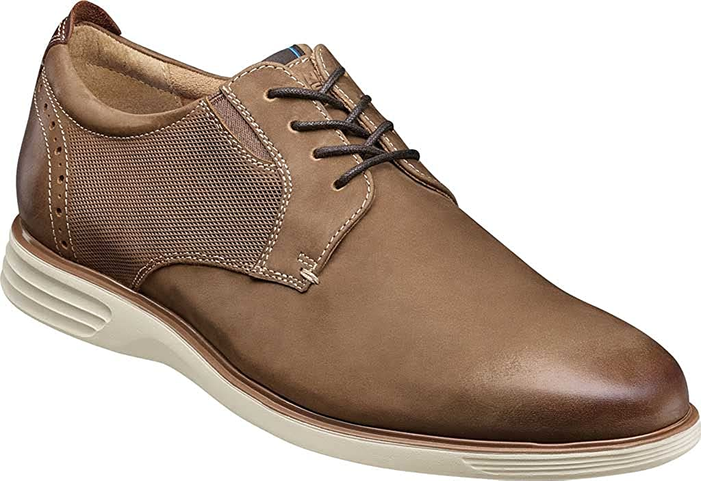 Nunn Bush Men's New Haven Plain Toe Oxford Tan Multi Leather 10 M