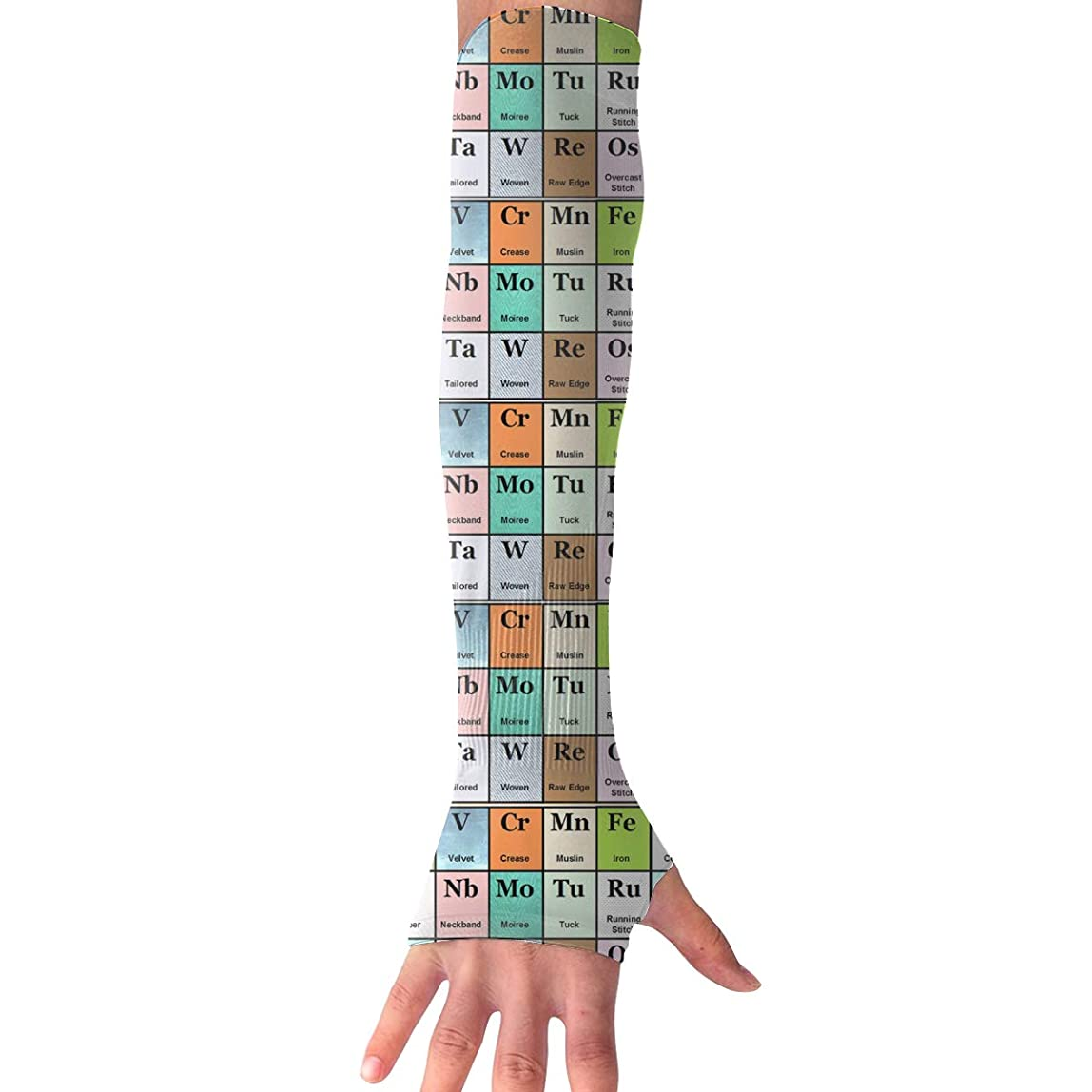 Cooling Arm Sleeves Elements Periodic Table UV Protection Hands Arm Cover Long Arm Sleeve Glove yxwnijn181494